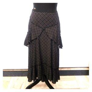 🖤Black & White Ruffled Skirt